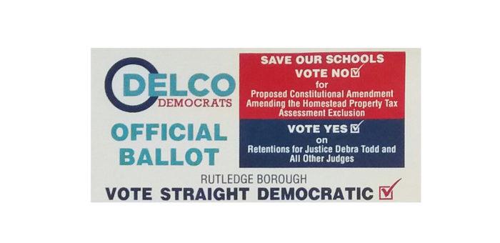 Official Delco Ballot